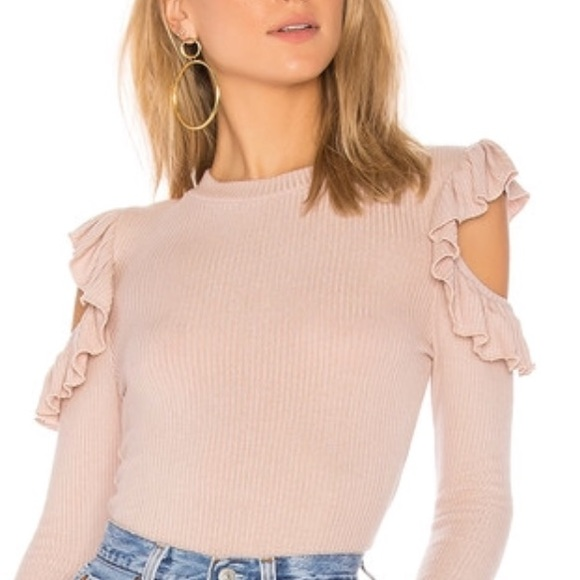 74c4be86ecc342 Karl Lagerfeld cold shoulder in pale pink NWT